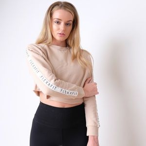 KLXXFIT desert sand crop sweater